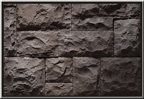 Medieval Castle Charcoal Black Flat Stone Cladding