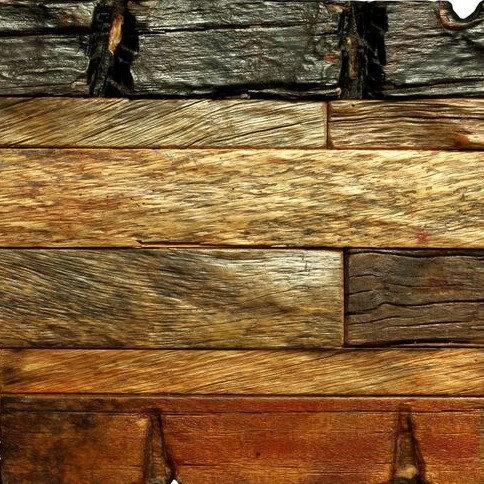 Caribbean 601 Organic Natural Timber Panels Polished 600x300mm