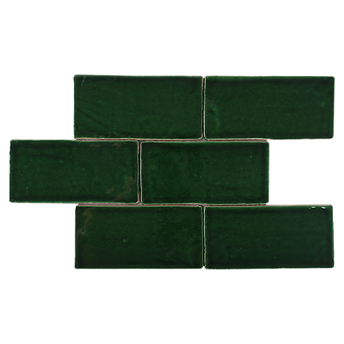 Costa Del Emerald Green Spanish Handmade Subway 150x75x8mm