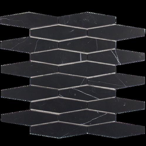 Nero Marquina Honed Long Hexagon 252x277x10mm