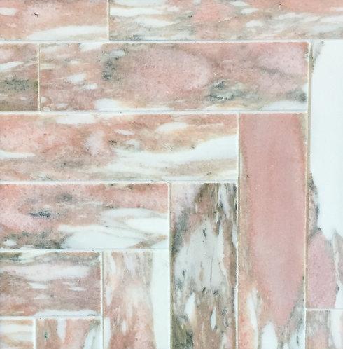 Fiori Rosa Honed Herringbone Mosaic 293x285x10mm