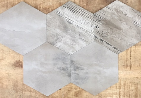Banished Country Grey Hexagon 200x230x8mm