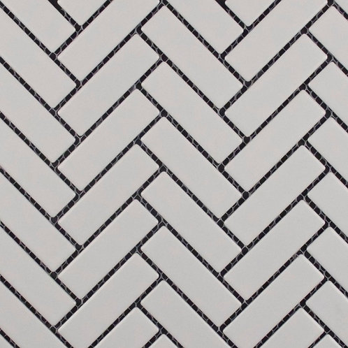 Summit White Herringbone Matt Mosaic 310x275x5mm