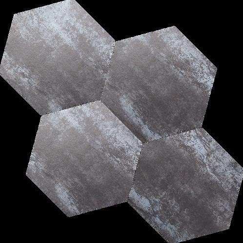 Rustic Silver Hexagon Mosaic 265x230x9mm