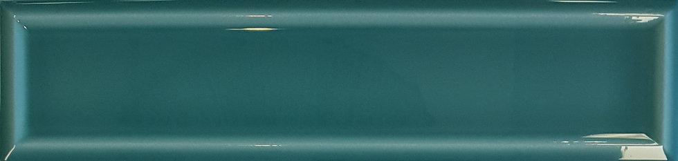 Miami Dark Green Frame Ceramic Gloss Pressed Edge Subway 68x280x7mm
