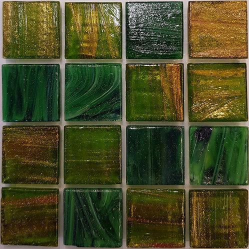 Pacific Two L'Elba Glass Pool Mosaic 322x322x4mm (20x20mm chip) Hotmelt