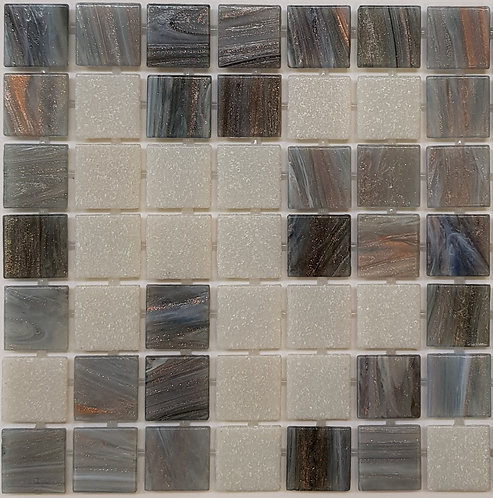 Wanaka Glass Pool Mosaic 300x300x4mm sheet (20x20mm chip) Dot Mounted