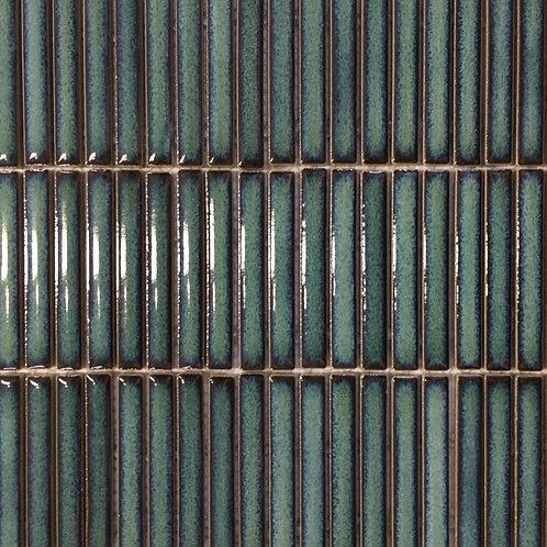 Antique Matchsticks Green Glazed Mosaic 294x280x8mm
