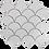 Thumbnail: Collaroy White Matt Porcelain Fan Mosaic 270x290mm