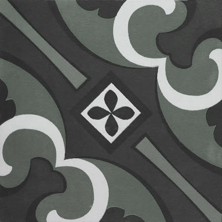 Artisan Tangier Forest Black Patterned 200x200x7mm