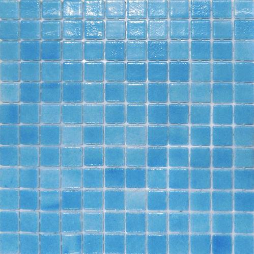 Vision Ocean Blue Glass Pool Mosaic 315x315x4mm (25x25mm chip) Dot Mesh