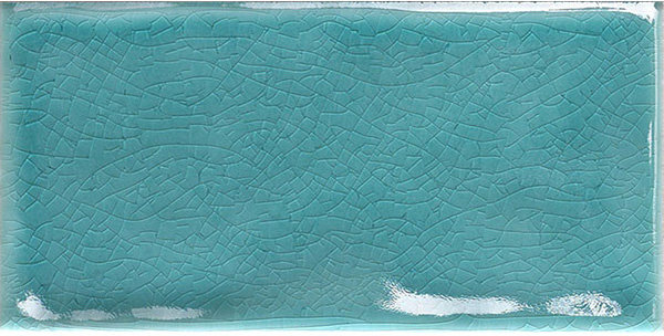 Crackle Finish Turquoise Italian Subway 75x150x6mm