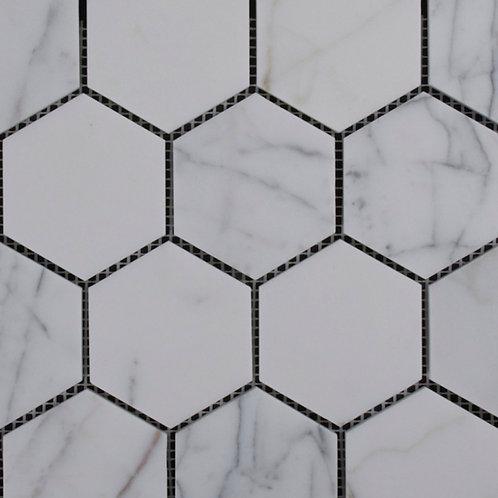 Calacatta Statuario Honed Hexagon 289x250x10mm
