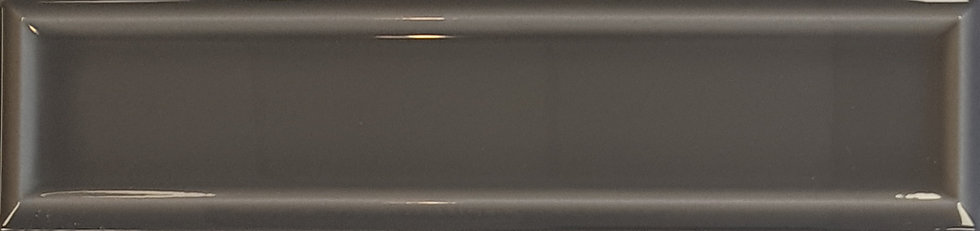 Miami Dark Grey Frame Ceramic Gloss Pressed Edge Subway 68x280x7mm