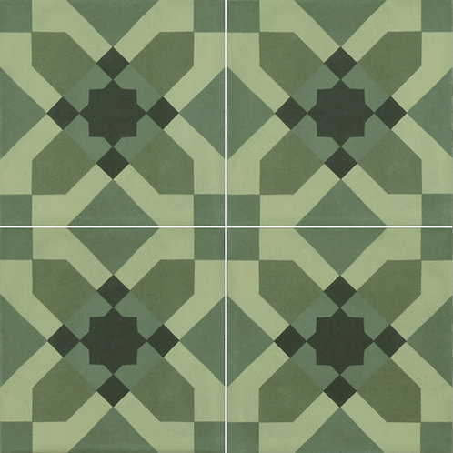 Mission Beach Verde Decor Matt Rectified P3 200x200x10mm
