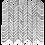 Thumbnail: Zone Carrara D Honed & Thassos Polished Chevron Mosaic/Stripe 300x320mm