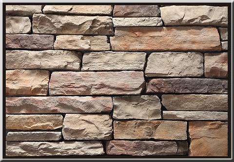 Stacked Ledgestone Cabernet Flat Stone Cladding