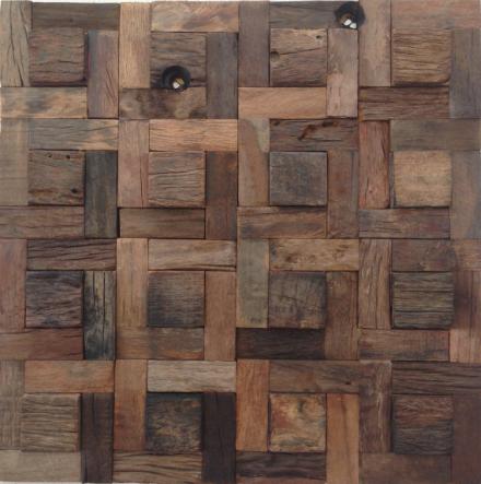 Caribbean 08 Organic Natural Timber Panels 300x300mm