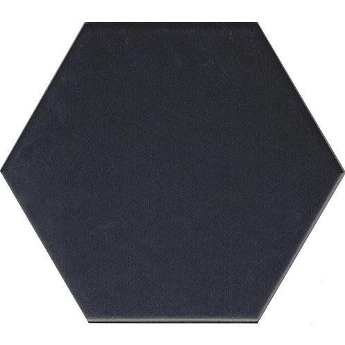 Black Large Matt Hexagon Tile 195mm