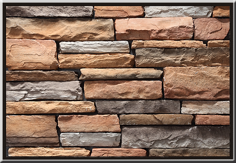 Stacked Ledgestone Apache Flat Stone Cladding