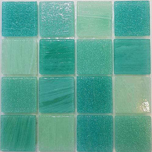 Pacific Two Tea Glass Pool Mosaic 322x322x4mm (20x20mm chip) Hotmelt