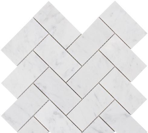 Aruba Carrara C Honed Herringbone 282x282x10mm
