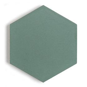 Paradise Leaf Hexagon Encaustic Rect 150x150x15mm
