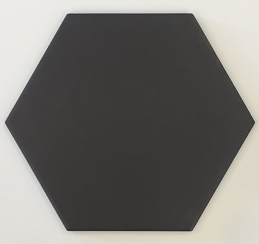Black Hexagon Matt 200x174mm