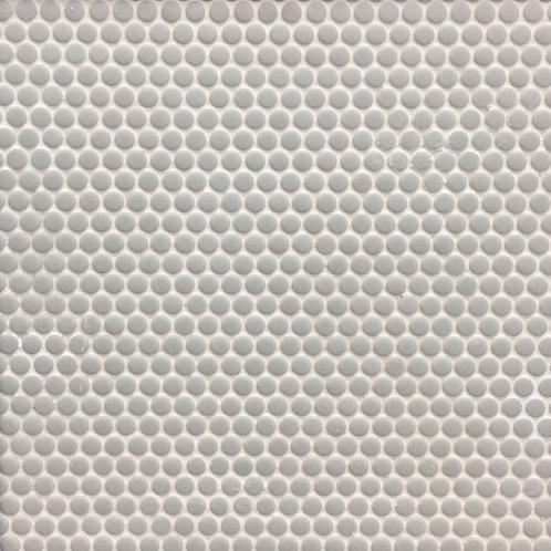 Circlets Grey Sage Enamel Glass Matt Mosaic 310x312x5mm