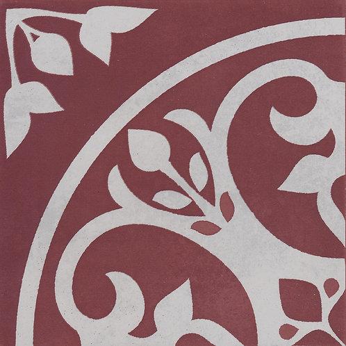Artisan Oslo Oxblood Matt Scandi Patterned 200x200x7mm