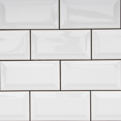 Colour White Shape Rectangle Size Mm 150x75 Material Porcelain Pattern Subway Surface Gloss Edge Pressed Slip Rating Look