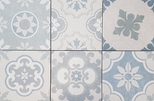 Designa Hamptons Mix Matt Encaustic Look R10 200x200x7mm