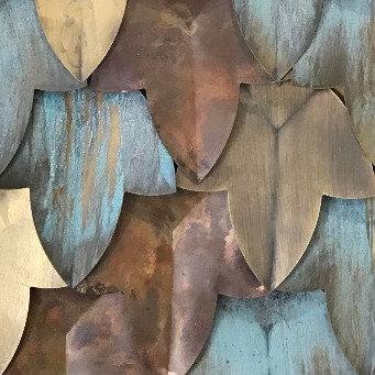 Leaf Antique Copper Mosaic