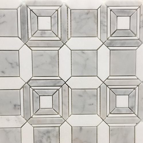 Lyrebird Coco Carrara & Thassos Honed 305x305mm