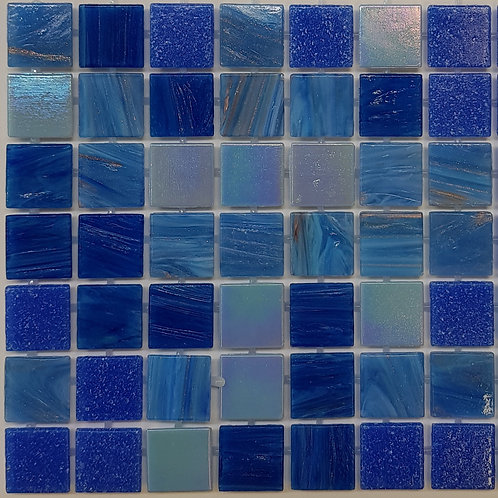 Mt Hotham Glass Pool Mosaic 300x300x4mm sheet (20x20mm chip) Dot Mounted