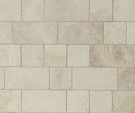 Ascot Travertine Bianco Tumbled & Unfilled Bundle 100x100x10mm & 100x200x10mm