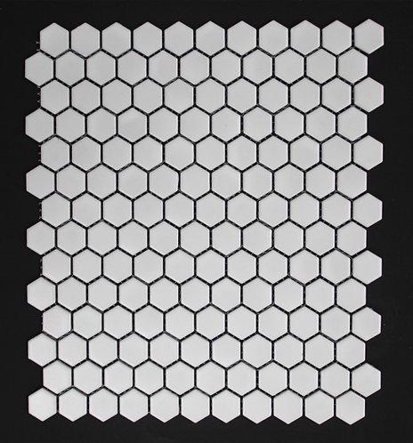 Halt White Hexagon Gloss Mosaic 280x300x5mm