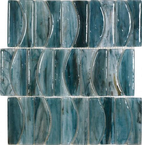 Atlantic Blue Glass Handmade Mosaic 303x340x8mm