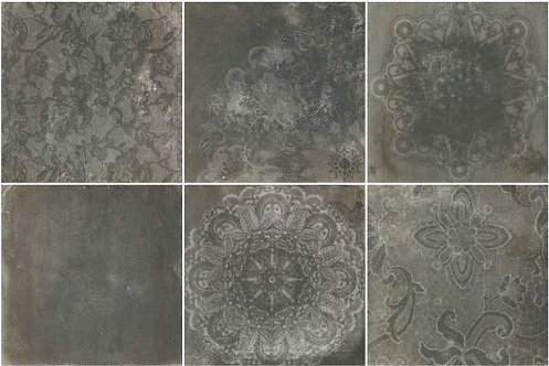 Milan Grafite Mix 600x600x10mm (Six patterns in mix)