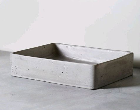 Lux Concrete Basin French Grey Rectangle 470x360x110mm