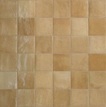 Rose Bay Caramel Gloss Ceramic Zellige Tile 100x100x10mm