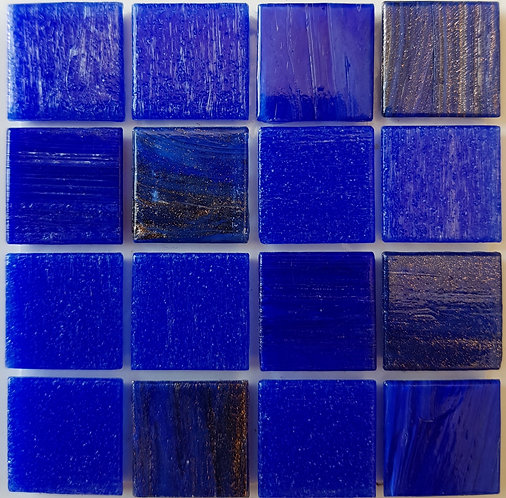 Pacific One Istanbul Glass Pool Mosaic 322x322x4mm (20x20mm chip) Hotmelt