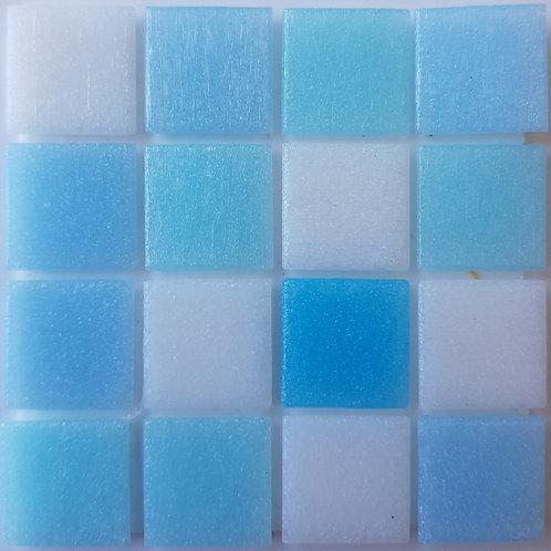 Pacific One Seychelles Glass Pool Mosaic 322x322x4mm (20x20mm chip) Hotmelt