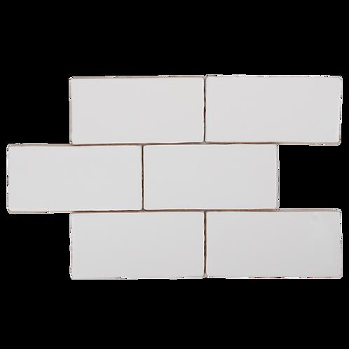 Costa Del Super White Matt Spanish Wall Tile 150x75x8mm