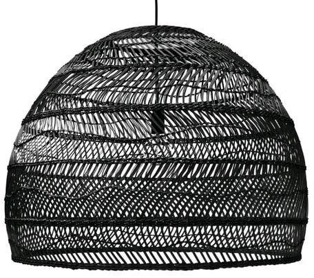 Bondi Ebony Woven Rattan Pendant Light Shade 60cmx50cm