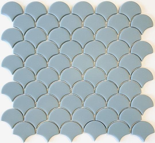Dory Blue Matt Enamel Glass Fan Mosaic 288x305x5mm