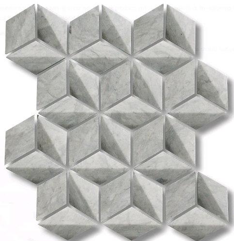 Helena Tunis Grey 3D Honed Mosaic 244x282mm (Chip 39mm diameter)