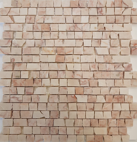 Mezzano Rosado Antique Cut Honed Mosaic 305x305x15mm