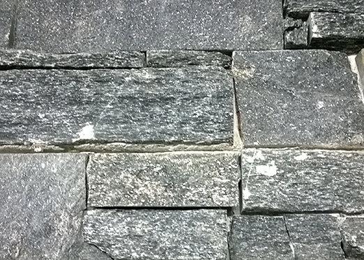 Ledgestone Black Mica Stone Panel 152x610m2