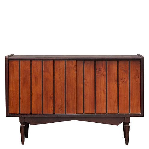 Retroteak Cabinet Antque Aged Med Colour Slid Frnts Wth Draw